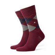 Burlington Edinburgh Socks Red 21182