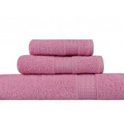 Set Prosoape De Baie Hobby Simplicity Pink, 100% bumbac, 3 bucati, roz