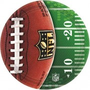 amscan NFL Drive Birthday Party Round Dessert Plates , Multi Color, 7 x 7 by