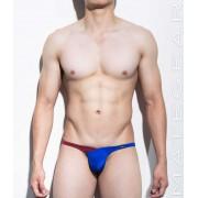 Mategear Nan Song Tapered Sides V Front Series IV Translucent Back Ultra Pouch Bikini Swimwear Blue 1130101