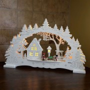 Bright LED candle arch Village