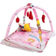 BcH Baby Play Gym Cum Bedding Set With Free Pillow & Mosquito Net
