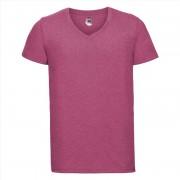 Russell Basic heren t-shirt met V-hals roze