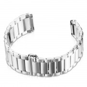 22mm Three Beads Stainless Steel Watch Strap with Butterfly Clasp for Huawei Watch GT / Honor Watch Magic - Silver