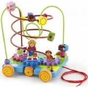 Jucarie copii New Classic Toys Beadframe Activity - Farm