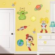 Stickere perete copii Explorand Spatiul Cosmic - 120 x 43 cm