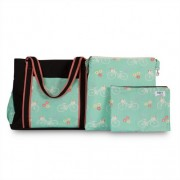 Chele and Maye Bicycle Mint Nappy Bag