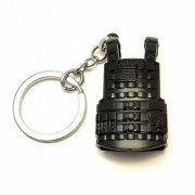 KD COLLECTIONS PUBG Level 3 Jacket Keychains Keyrings Military Vest Jacket Shape Keychain (Black)