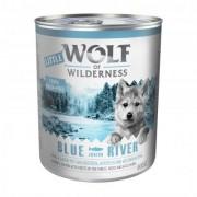 6 x 800 g Little Wolf of Wilderness Wild Hills Junior - eend & kalf Hondenvoer