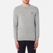 Lyle & Scott Men's Crew Neck Cotton Linen Knitted Jumper - Light Grey Marl - XL - Grey