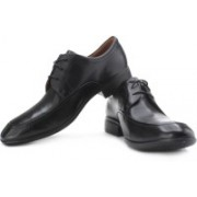 Clarks Ginsberg Style Genuine Leather Lace Up Shoes For Men(Black)