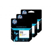 Cartucho HP Plotter 711 - Amarelo 29ML - Pacote com 3 - CZ136AB
