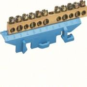 N/PE sín 5x16mm2+6x10mm2, L=73mm, talpra szerelt, kék (Hager KM11N)