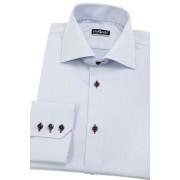 Bledě modrá pánská košile slim s barevnými doplňky Avantgard 109-4912-40/182