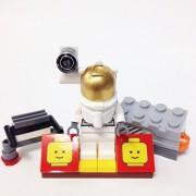 "Minifigure Packs: Lego City Space Port Bundle ""(1) Astronaut"" ""(1) Figure Display Base"" ""(2) Figure Accessorys (Space Sound Brick & Jet Pack)"""