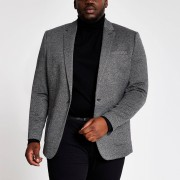 River Island Mens Big and Tall Grey textured blazer (52R)