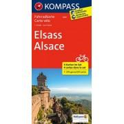 Fietskaart 3501 Elsass - Alsace , Elzas | Kompass