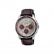 Reloj Analógico Hombre Casio MTP-1374L7A1 Cronógrafo - Marrón con Plateado