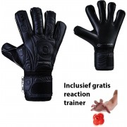 Elite - Black Solo - Keepershandschoenen - inclusief Reaction trainer - maat 7 - voetbal keepershandschoenen - keepershandschoen - Goalkeeper handschoen