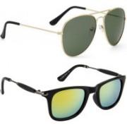 Phenomenal Aviator, Wayfarer Sunglasses(Green, Yellow)