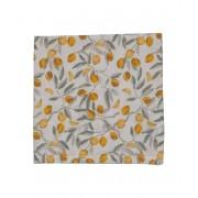 Dille&Kamille Serviette de table, coton, citron, 40 x 40 cm