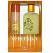 Evaflor Whisky Men - zestaw, woda toaletowa, dezodorant