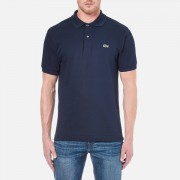 Lacoste Men's Basic Pique Short Sleeve Polo Shirt - Navy - 5/L - Blue