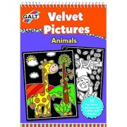 Galt Toys Velvet Pictures Animals Activity Book