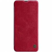 NILLKIN Qin Series Leather Case with Card Slot for Samsung Galaxy A50 - Red