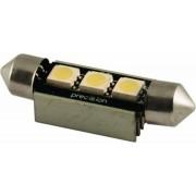 Autós led sofita canbus rendszám világítás, 3 led, 42 mm, 100 Lumen, 1,5W, hideg fehér. Life Light Led.