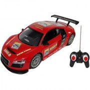 Emob 27MHZ High Speed Super Power Cyclone Sports Rally Racing Remote Control Car With Rechargeable Battery (Red)