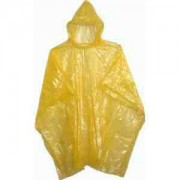 Child Yellow Disposable Ponchos