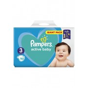 Scutece Pampers Active Baby Midi 3 Giant Pack, 6-10 kg, 90 buc