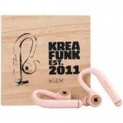 Kreafunk bGEM Bluetooth Wireless In-Ear Headphones - Dusty Pink