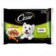 Cesar 48 x 100 g en bolsitas: Selección en salsa o en gelatina - Selección en salsa