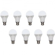 Homelights 7W Cool Day Light Led Bulb (White Pack Of 8)