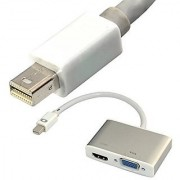2 in 1 Mini DisplayPort DP to Digi-Port HDMI VGA dual Female Adapter Convertor