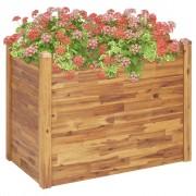 vidaXL Jardinieră de grădină, 110 x 60 x 84 cm, lemn masiv de acacia