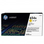HP 654A Yellow Original LaserJet Toner Cartridge (CF332A)