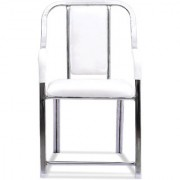 Fabsy Interiors Steel Visitor Chair in White