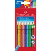 Creioane colorate 12 culori Grip 2001 Faber-Castell