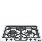 Smeg 60cm Classic Gas Hob, Stainless Steel - PGF64-4
