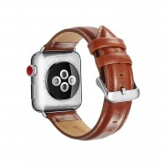 Top Layer Crazy Horse Texture Cowhide Leather Wristwatch Strap for Apple Watch Series 5 4 40mm / Series 3 2 1 38mm - Brown