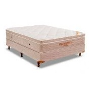 Conjunto Cama Box - Colchão Ortobom Apollo Viscomemory Bamboo + Cama Box Nobuck Bege Crema - Conjunto Box Casal - 138 x 188