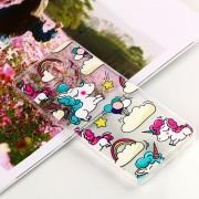 Para Nokia 7 Plus Unicornio En Relieve Patrón Claro Aceite Suave De TPU Protector Nuevo Caso