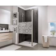 Schulte Home Paroi de douche fixe à l'italienne Walk In avec retour pivotant 90 cm, Cercles, anticalcaire
