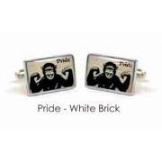 Tyler & Tyler Stencilart 7 Deadly Sins White Brick Cufflinks Pride