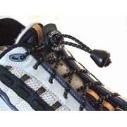 Elastiska skosnören med lås toppkvalitét svarta