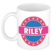Bellatio Decorations Voornaam Riley koffie/thee mok of beker - Naam mokken