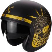 Scorpion Belfast Fender Casco Jet Negro Oro 2XL